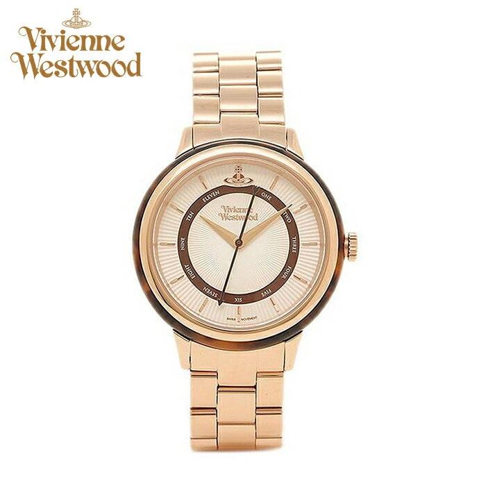 (ショップ袋プレゼント)ヴィヴィアンウエストウッドVivienne Westwood時計 腕時計 レディースホワイト ピンクゴールド VV158RSRS【ID】