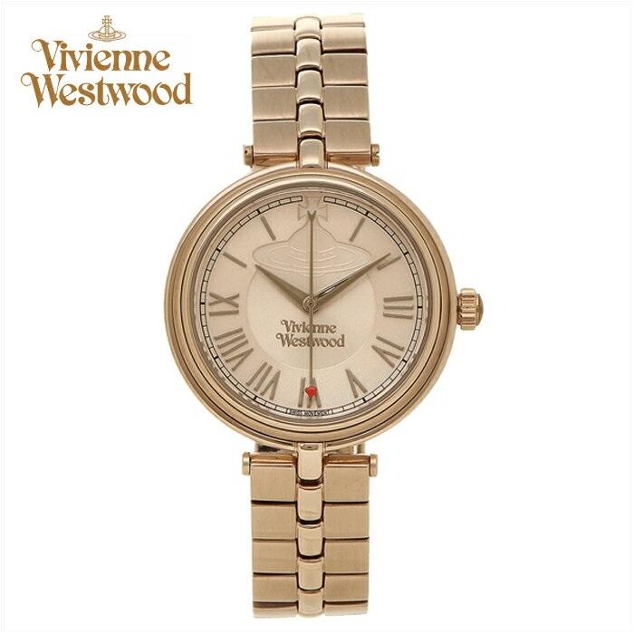 (ショップ袋プレゼント)ヴィヴィアンウエストウッドVivienne Westwood時計 腕時計 レディースピンクゴールド VV168NUNU【ID】