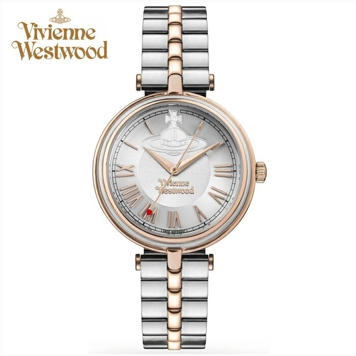 (ショップ袋プレゼント)ヴィヴィアンウエストウッドVivienne Westwood時計 腕時計 レディースピンクゴールド シルバー VV168RSSL【ID】