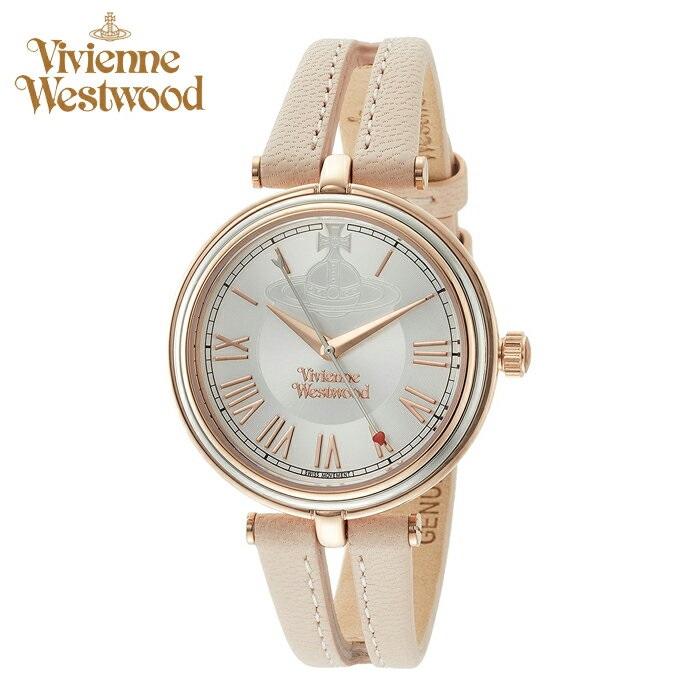 【スーパーSALE】 ヴィヴィアンウエストウッドVivienne Westwood時計 腕時計 レディースシルバー ピンク レザー VV168SLPK【ID】