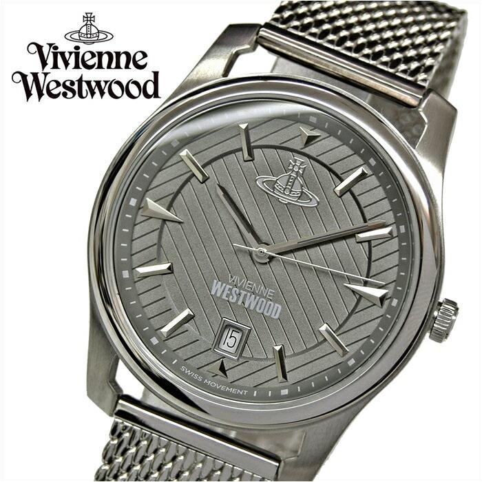(ショップ袋プレゼント)ヴィヴィアンウエストウッドVivienne Westwood VV185GYSL メンズ 時計 腕時計 グレー シルバー(ty4)