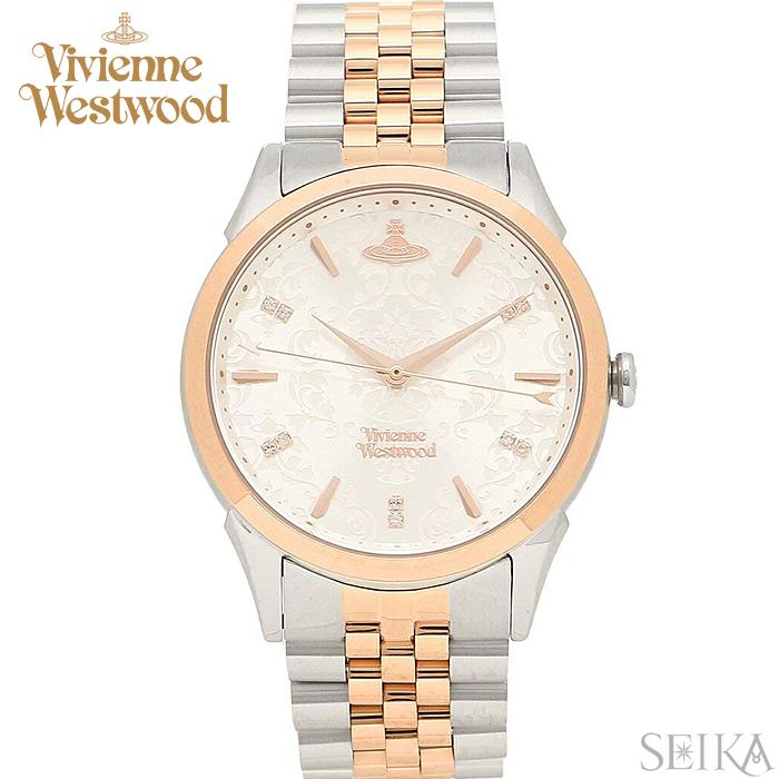 (ショップ袋プレゼント)ヴィヴィアンウエストウッド Vivienne Westwood VV208RSSL時計 腕時計 レディース シルバー ピンクゴールド ピンクゴールドの腕時計(ty04)