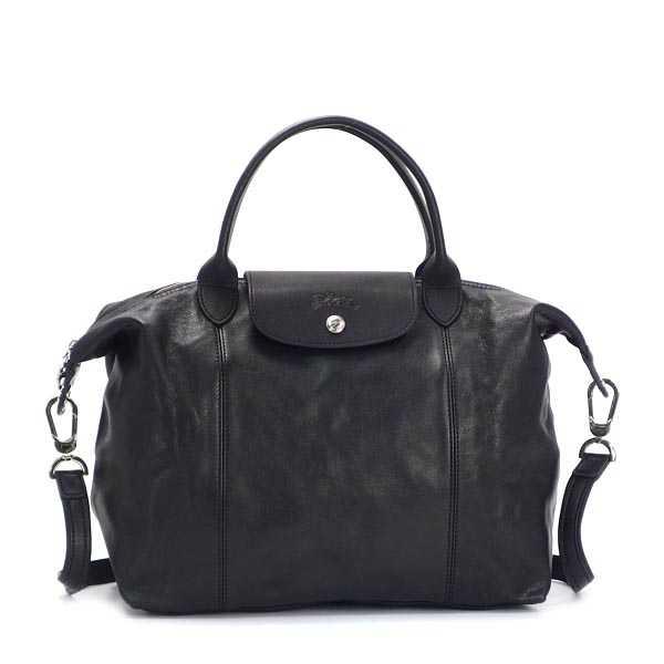 ロンシャン LONGCHAMPハンドバッグ ブラック1515 737 001 LE PLIAGE CUIR H (s18)通勤 通学 鞄 かばん