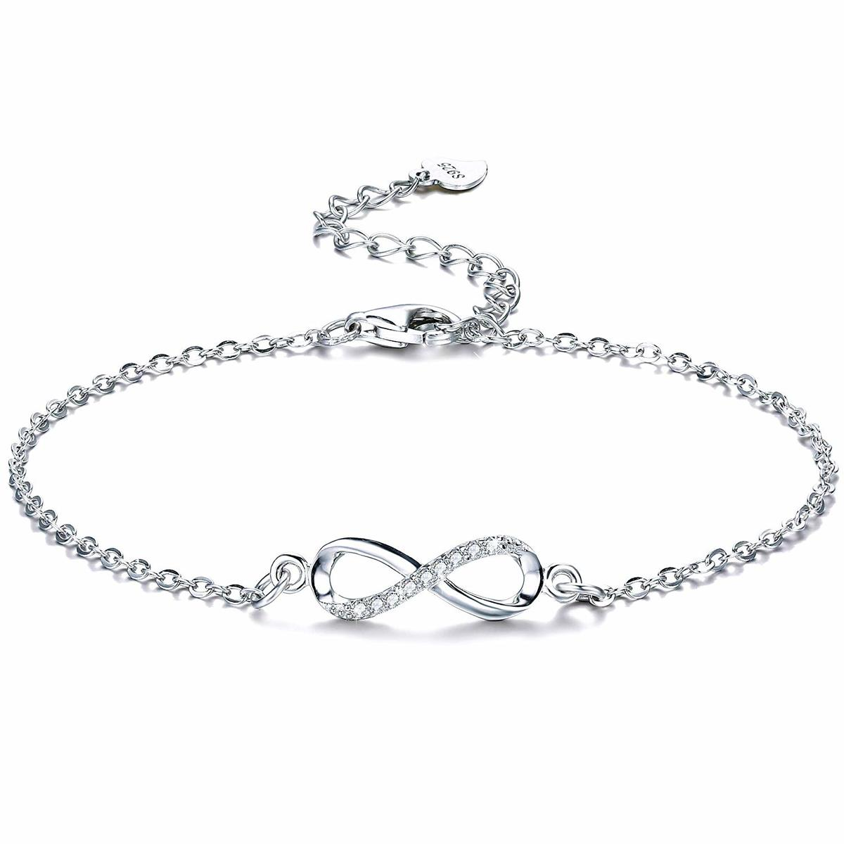 5fb90c334a090 With sterling silver bracelet Infinity gift BOX made of bracelet Lady's 925  pure silver