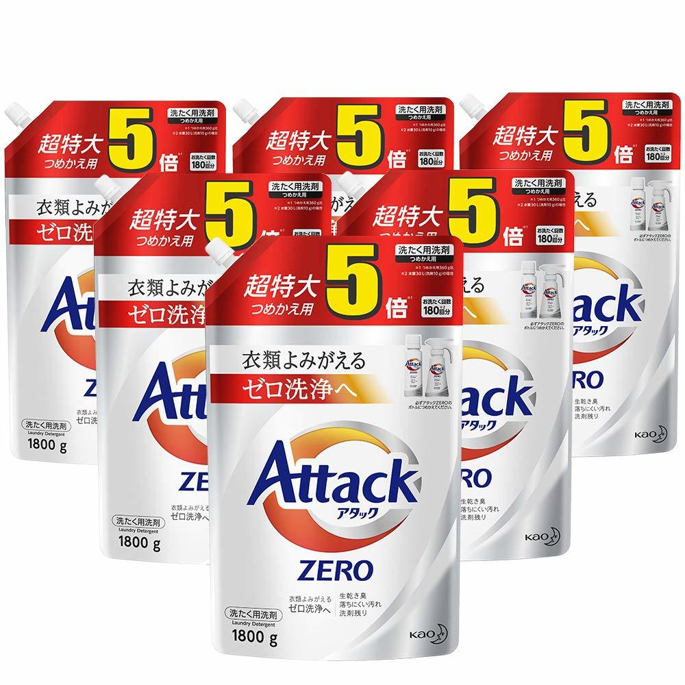 *6 attack ZERO (zero) laundry detergent liquid refilling super extra-large  1,800 g (for approximately 5 times)