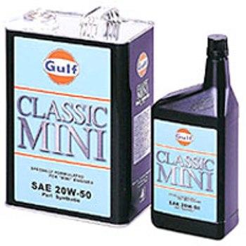 【送料無料】Gulf CLASSIC MINI 20W-50(ガルフ クラシック ミニ 20W50) 20L/部分合成 エンジンオイル gfcmi