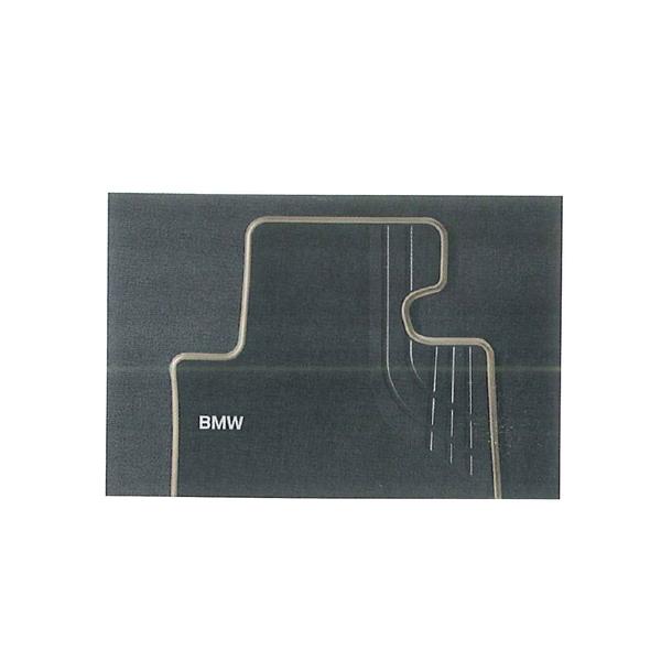 【BMW純正 3シリーズF30 右ハンドル用】フロア・マット・セット テキスタイル モダン ブラック/オイスター (リヤセット)