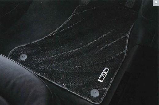 Audi純正 アウディ A3純正 フロアマット コンフォート J8VGG1R15CFBL4 ブラック