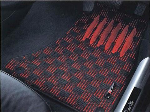Audi純正 アウディ A4純正 フロアマット スポーツ J8KBM5R13SPBR5 ブラック&レッド