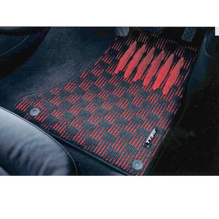 Audi純正 アウディ TT純正 フロアマット スポーツ J8JBM5R11SPBR2 ブラック&レッド