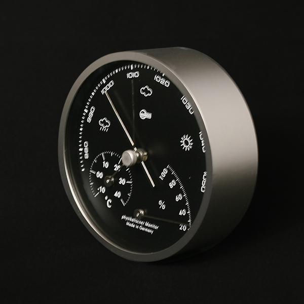 BARIGO(バリゴ) / BG101-5温湿気圧計(マットシルバー)φ104×D35mm 287g【即納可】【送料無料】