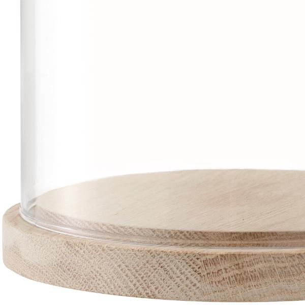 LSA/ivalo 举行圆顶灰基地 (清除) s︰ Φ 15 x 05P01Mar15 H16.5cm 皮革手工制作的玻璃穹顶 (盒装)