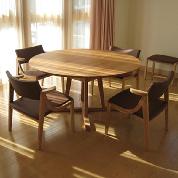 ルナ ローダイニングテーブル オーク(オイル仕上げ)LUNA Low Dining Table OAKサイズ:φ1000~1800×H650mm