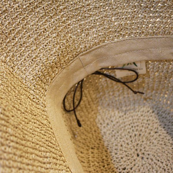 Little paper /SASAWASHI / hand-knitted Hat beige (56-58 cm)