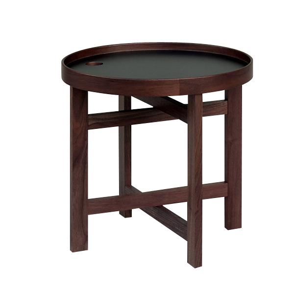 YUMA Tray Table WN×BK / ユマ・トレイテーブル(ウレタン仕上げ)ウォールナット×ブラック