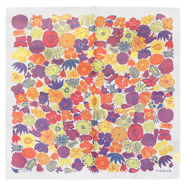 HIBINO KODUE / handkerchief crazy flower white