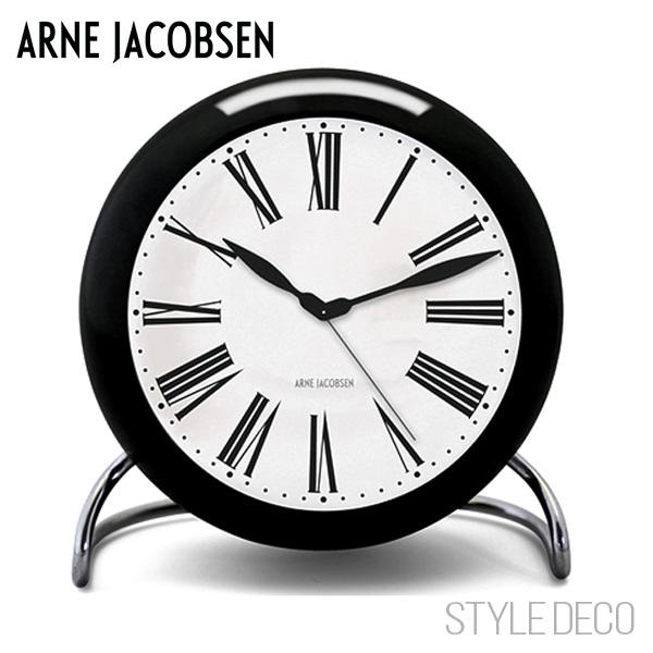 【送料無料】ARNE JACOBSEN / アルネ・ヤコブセンROMAN テーブルクロック(ブラック)新生活 一人暮らし 入学祝い