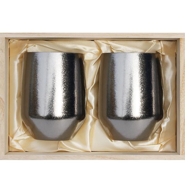 【送料無料】SUSgallery(サスギャラリー)ペア箱セット タイタネス タンブラー ゴブレット ミラー400ml(Φ76×H112mm)×2個【楽ギフ_のし】