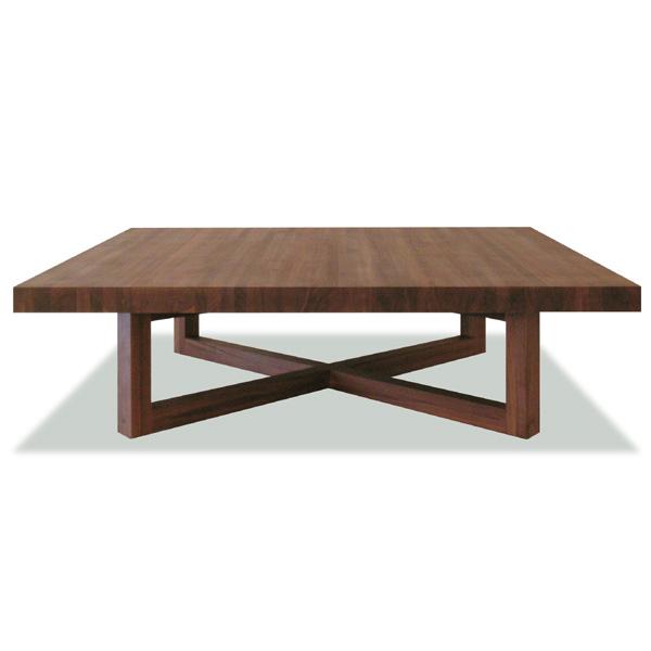 バーデン リビングテーブル(オイル仕上げ)サイズ:W1200×D1200×H350mm/天板厚:50mm