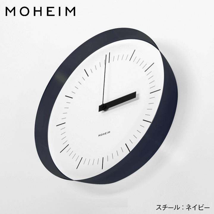 MOHEIM MOHEIM モヘイム HORN 単三電池 掛け時計サイズ:φ280×D58mm材質:スチール(ウレタン仕上げ)、アクリルリズム社製 シィープ式 ムーブメント シィープ式 単三電池, VIPORTE:1bfd39a1 --- officewill.xsrv.jp