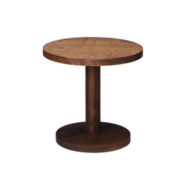 【送料無料】リノサイドテーブル(M)WN/ ウォールナットφ400×H370mm製作 : アカセ木工