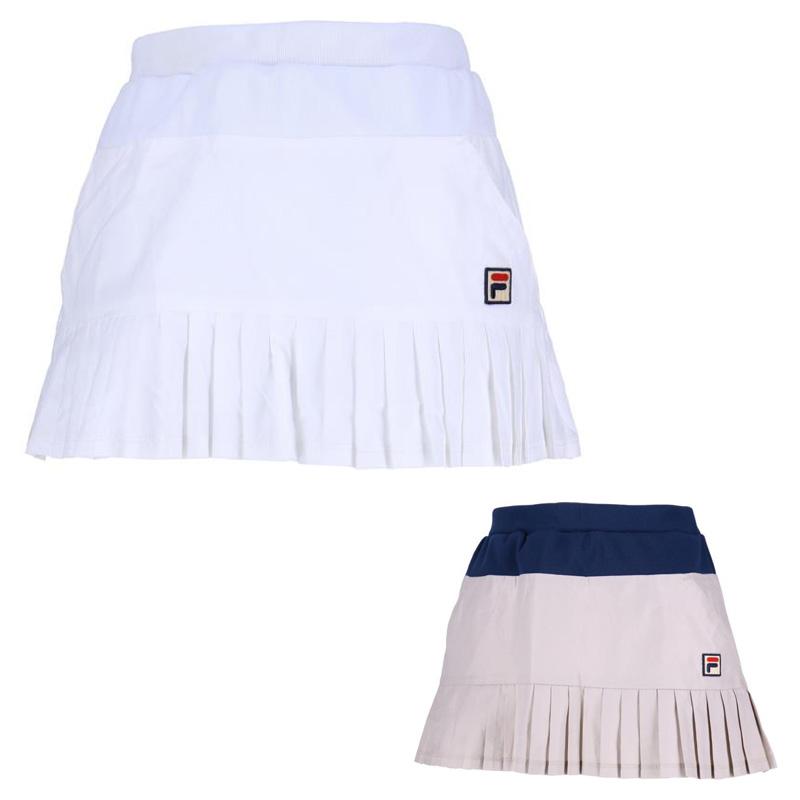 FILA(フィラ) テニスゲームシャツ・パンツ (レディース テニスウェア) スコート VL1772 ホワイト  ウィメンズ 女性 おんな WOMEN レディース 女子 LADY