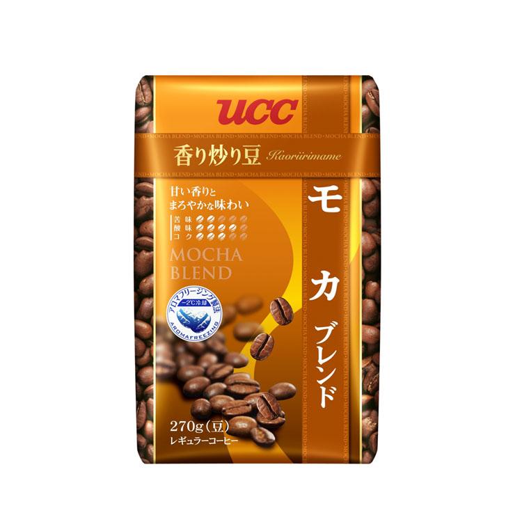 高い素材 コーヒー レギュラーコーヒー コーヒー豆 ペーパードリップ バーゲンセール 上島珈琲 粉 ユーシーシー 中容量 香り炒り豆 D 270g コク モカブレンド UCC 香り