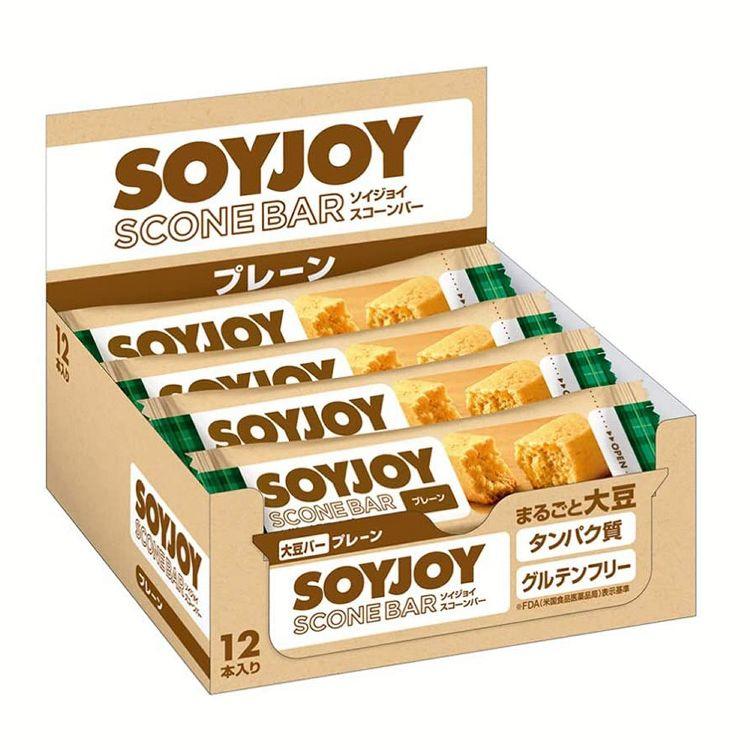 グルテンフリー ソイジョイ スコーンバー 大豆 間食 『4年保証』 低GI タンパク質 プレーン D 12食 大塚製薬 非常食 卓越