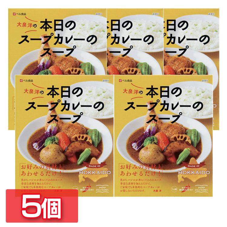 カレー レトルト 在庫限り スープカレー 大泉洋プロデュース スープカレーのスープ 非常食 常備食 ベル食品 本日のスープカレーのスープ201g 北海道 備蓄 5個 D 新作販売 ストック