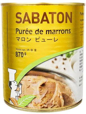 フランス伝統マロンの老舗 日本産 サバトン 870g 売り込み マロンピューレ