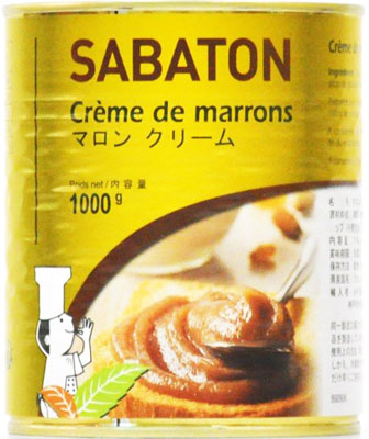 フランス伝統マロンの老舗 サバトン 1kg 新品 送料無料 マロンクリーム 2020新作