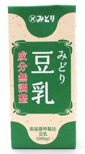 お歳暮 春の新作続々 成分無調整のすっきりと飲みやすい豆乳 九州乳業 みどり豆乳 成分無調整 1L 1000ml