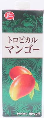 ジューシー トロピカルマンゴー 卓出 有名な 1000ml×6本 1ケース