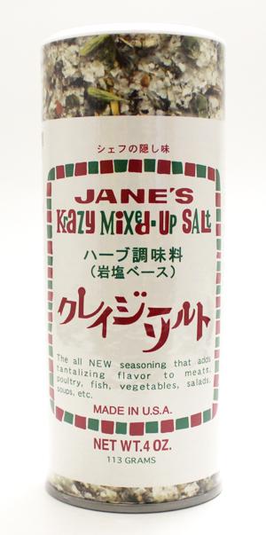 ひと振りでシェフの味ハーブ調味料 高い素材 商舗 岩塩ベース ジェーン 113g クレイジーソルト