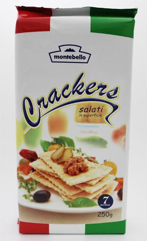 ワインやクリームチーズと モンテベッロ ダブルサイズクラッカー250g 6枚×7袋 1ケース 予約販売 ×12個 新作 人気