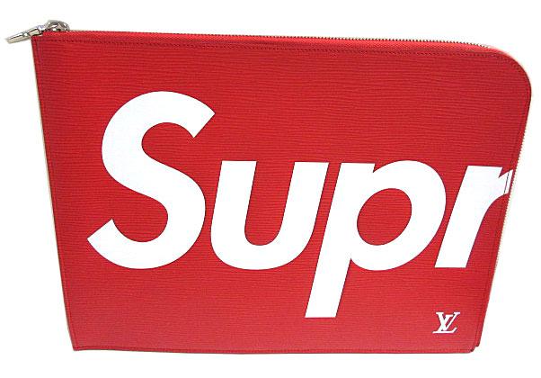【キャッシュレス5%還元対象】≪新品≫ルイヴィトン LOUIS VUITTON × supreme ポシェットジュール GM クラッチ レッド M67722 シュプリーム 箱のラッピング
