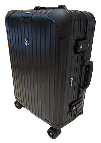 新品 モンクレール×リモワ MONCLER RIMOWA 2017年 コラボ限定 スーツケース キャビントロリー Topas Stealth 53 アルミニウム 34L 小(S)