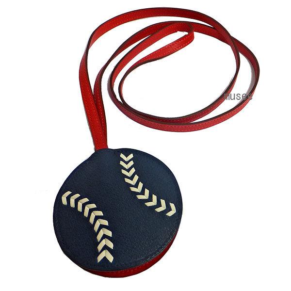 エルメス キーリング baseball ベースボール 12/4(水)20:00~エントリーでポイント5倍!!特価!≪新品≫ エルメス キーリング ロング ストラップ クロシェット チャーム baseball ベースボール 野球 メンズ 箱 リボン ラッピング