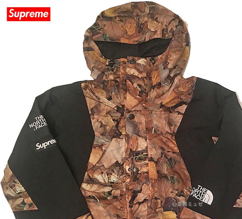 483028110 ≪新品≫ 16AW SUPREME / THE NORTH FACE TNF Mountain Light Jacket 木の葉 ジャケット  Lサイズ 心斎橋ミュゼ