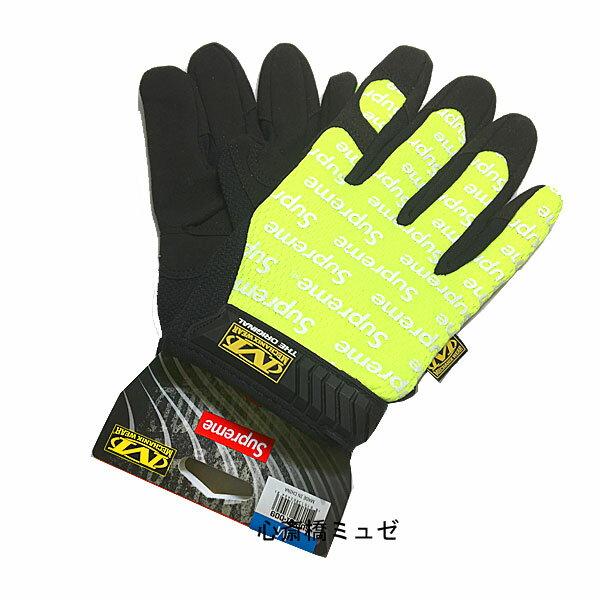 【キャッシュレス5%還元対象】≪新品≫ 17SS Supreme / Mechanix Wear Original Work Gloves Yellow Msize シュープリーム メカニックスウェア オリジナル ワーク グローブ 黄色 Mサイズ