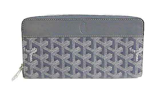 ≪新品≫ 正規品 GOYARD ゴヤール 財布 ラウンドファスナー 長財布 ジップ GM グリ(グレー)箱・リボンのラッピング