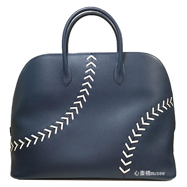 ≪新品≫ HERMES エルメス ボリード ボリード1923 Baseball 45 シルバー金具 C刻印 ベースボール 野球Bolide Baseball 45 BLEU DE MALTE