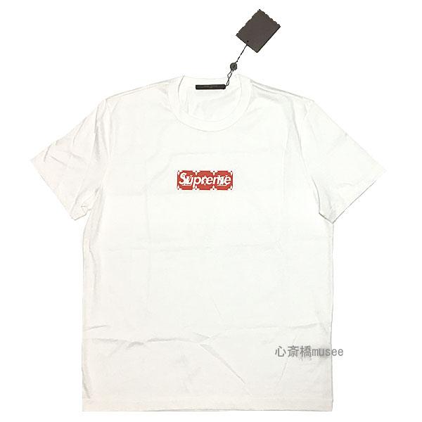 【キャッシュレス5%還元対象】≪新品≫ Supreme×Louis Vuitton シュプリーム × ルイヴィトン モノグラム BOXロゴ TEE Mサイズ 白 Monogram Box Logo Tee WHITE