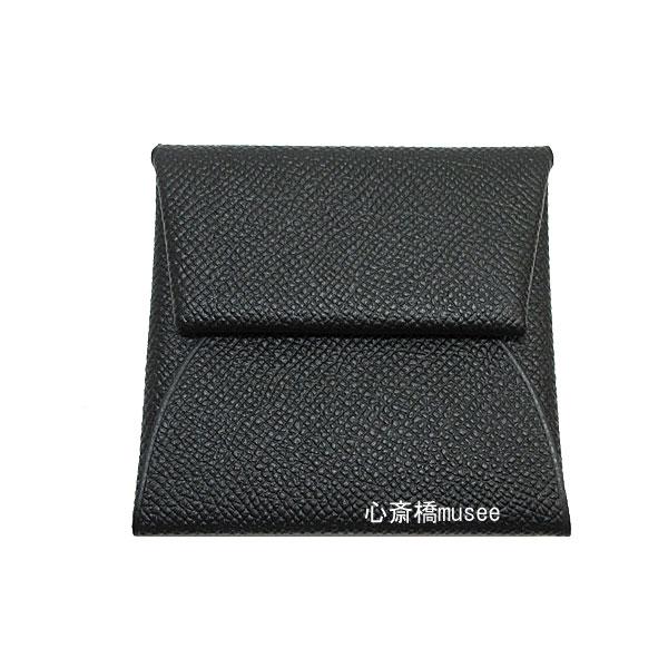 ≪新品≫ HERMES エルメス コインケース 「バスティア」 黒 エプソン 箱 リボンのラッピング