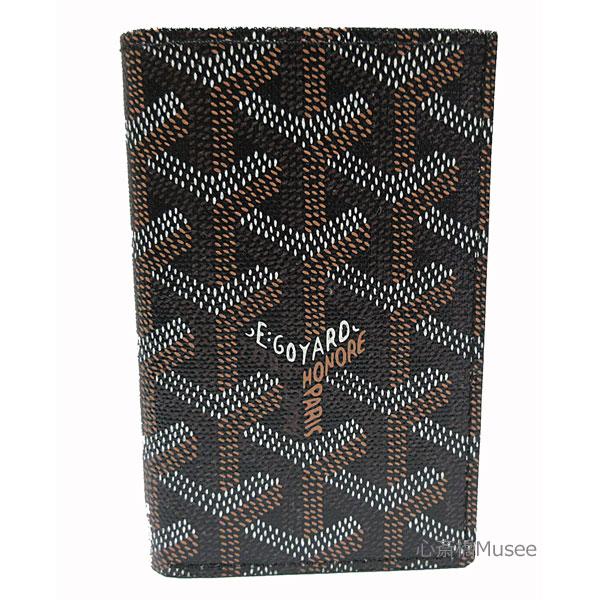 ≪新品≫正規品 GOYARD ゴヤール 二つ折りカードケース 「サンピエール」 黒 ブラック 箱 リボン ショッパー ラッピング