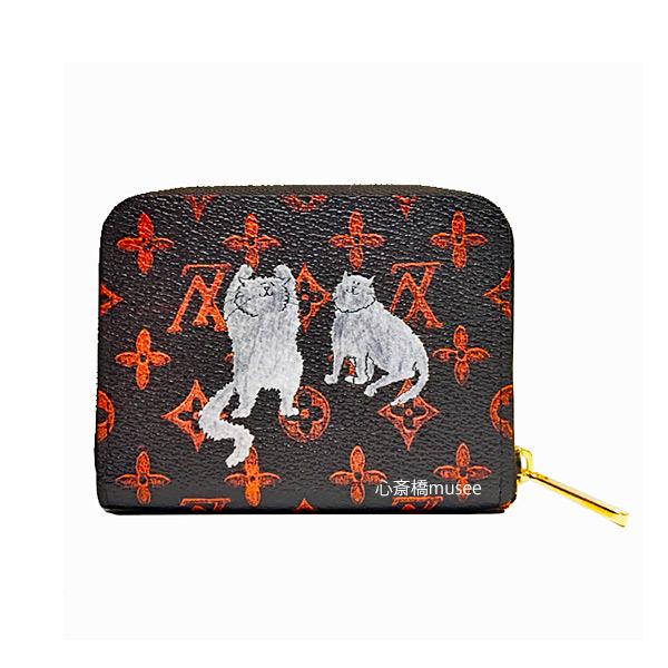 ≪新品≫ ルイ・ヴィトン ジッピー・コインパース キャットグラム M63883 コインケース LOUIS VUITTON I Cat Monoguram 猫 犬柄 ジッピー ラウンドファスナー キャットグラム グレース・コディントンイラスト 限定