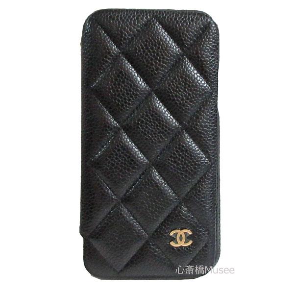≪新品≫ CHANEL シャネル 19春夏プレコレクション クラッシックケース 手帳型 携帯ケース iphone10 X XS A83568 キャビアスキン 黒 ブラック×ゴールド金具 二つ折り スマホケース マトラッセ 箱 リボン ラッピング