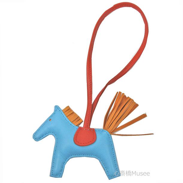 【エントリーでポイント5倍!6/24(水)23:59まで!!】《新品》HERMES エルメス ロデオ 「GRIGRI RODEO」 馬 革 バッグ チャーム PM セレステ ナチュラルブトンドール カーネリアン 箱 リボン ラッピング