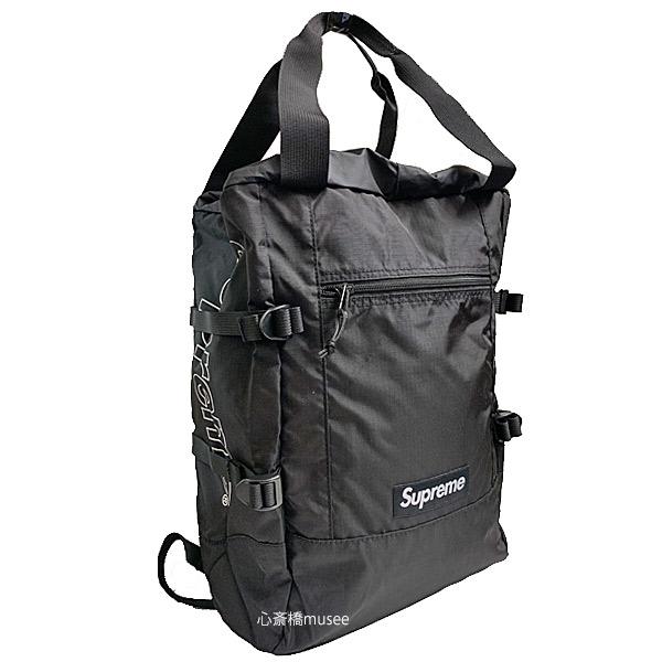 【キャッシュレス5%還元対象】≪新品≫ 19SS Supreme Tote Back Pack Black トート バックパック ブラック 黒 シュプリーム ショッパー付き