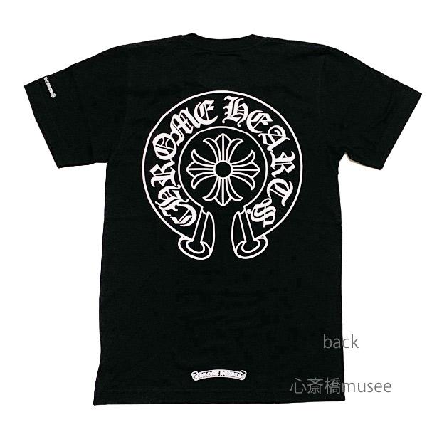 【キャッシュレス5%還元対象】≪新品≫正規品 クロムハーツ 19SS メンズ Tシャツ ブラック ホースシュー Mサイズ Chrome hearts 日本未入荷
